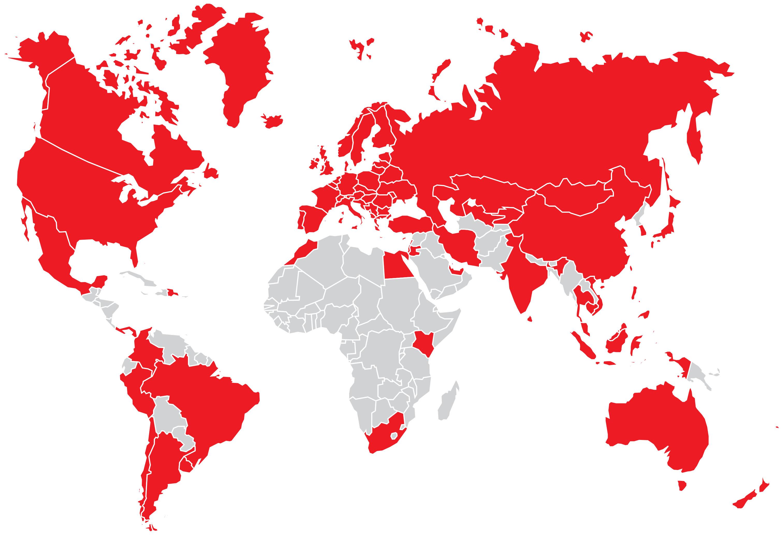Würth Weltkarte