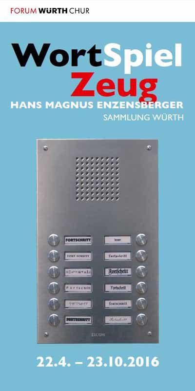 Plakat Ausstellung WortSpielZeug - Hans Magnus Enzensberger