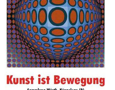 Plakat Ausstellung Kunst ist Bewegung