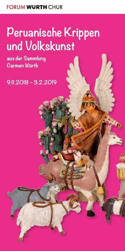 Plakat Peruanische Krippen und Volkskunst