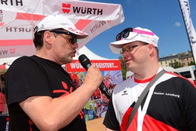 Athlet wird Interviewt