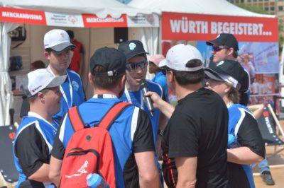 Athleten werden Interviewt